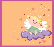 Girl angel Royalty Free Stock Photography