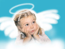 Girl-angel Stock Photo