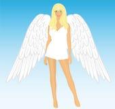 The girl an angel Stock Image