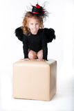 A girl in an angel Stock Image
