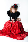 A girl in an angel Royalty Free Stock Images