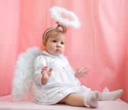 Girl angel Royalty Free Stock Images