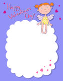Girl angel on a cloud. Girl angels on a cloud, day valentine Stock Photos