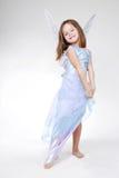 Girl in angel costume. Stock Photo
