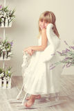 Girl in an angel dress Royalty Free Stock Photography