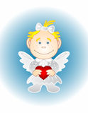 The girl-angel with heart Royalty Free Stock Photography