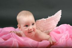 Girl angel Stock Photography