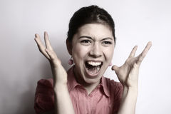 The girl in anger. Royalty Free Stock Photos