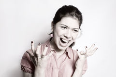 The girl in anger. Royalty Free Stock Photography