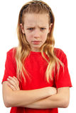 Girl is angry Stock Photography