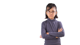 Girl With Angry Face Expression I Royalty Free Stock Photography