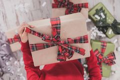 Gifts and presents in hands Royalty Free Stock Images