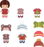 Girl apparel and accessories Royalty Free Stock Photos