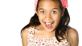 Girl appearing excited Royalty Free Stock Photos