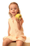 Girl with an apple. Stock Images