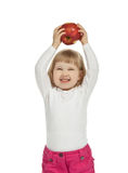 A girl with an apple Royalty Free Stock Photography