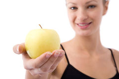 Girl and apple Royalty Free Stock Photos