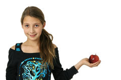 Girl with apple Royalty Free Stock Photo