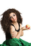 Girl with apple in hand Royalty Free Stock Image