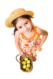 Girl with apples Stock Images