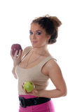 The girl with apples Stock Photo