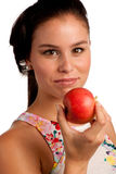 Girl with apples Royalty Free Stock Image