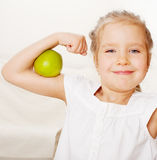 Girl with apples Stock Image