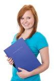 Girl with application portfolio Stock Photos