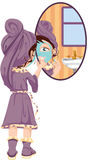 Girl Applying Face Mask Royalty Free Stock Images