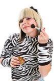 Girl applying make up Stock Image