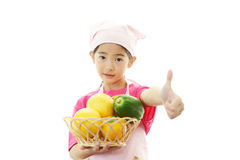 Girl in apron Royalty Free Stock Photos
