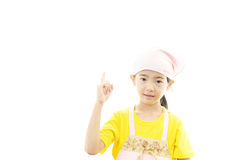 Girl in apron Stock Photo