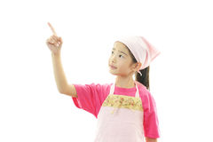 Girl in apron Stock Photos