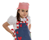 Girl in apron Stock Images