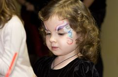 Girl with aqua make up royalty free stock photos