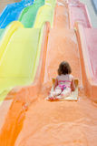 Girl in aquapark Stock Photography