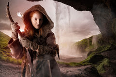 Girl archer Royalty Free Stock Images