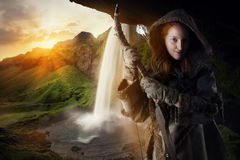 Girl archer Royalty Free Stock Image