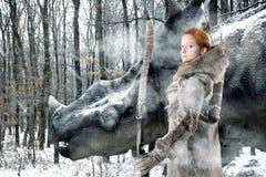 Girl archer Royalty Free Stock Photo