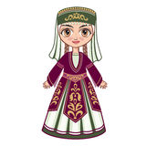 The girl in the Armenian national clothes Stock Photo
