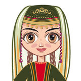 The girl in the Armenian national clothes. Portrait, avatar Stock Photography