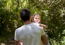 The girl in the arms of his father. Royalty Free Stock Photos