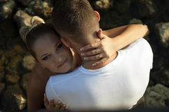 Girl. The girl in the arms of a Man Royalty Free Stock Photography