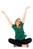 Girl with arms raised Royalty Free Stock Images