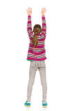 Girl With Arms Raised, Rear View Stock Photography