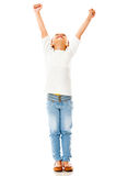 Girl with arms up Royalty Free Stock Images