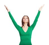 Girl arms up Stock Photography