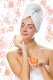Girl with aroma bath ball Stock Photo