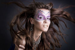 Girl with art make-up Royalty Free Stock Photography