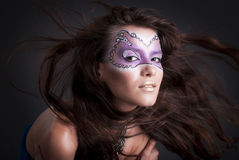 Girl with art make-up Royalty Free Stock Photos